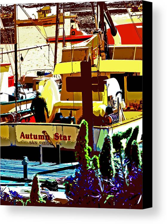 Autumn Star Canvas Print featuring the photograph Autumn Star by Joseph Coulombe