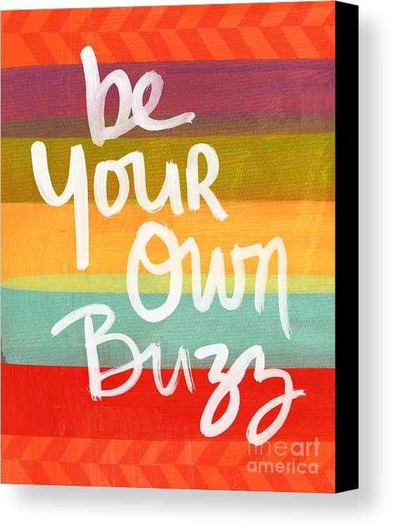 Stripes Canvas Print featuring the painting Be Your Own Buzz by Linda Woods