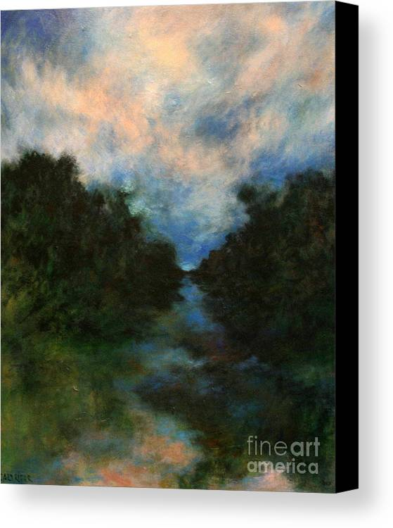 Impressionist Landscape Canvas Print featuring the painting Before The Dream by Alison Caltrider