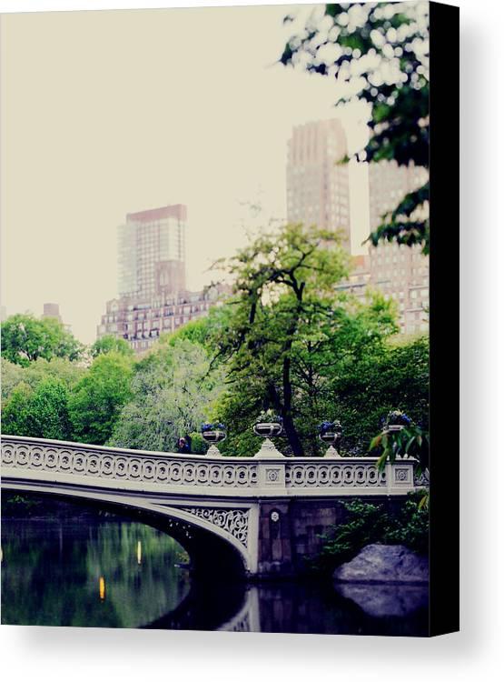 Centralpark Canvas Print featuring the photograph Bow Bridge by Chelsea Victoria