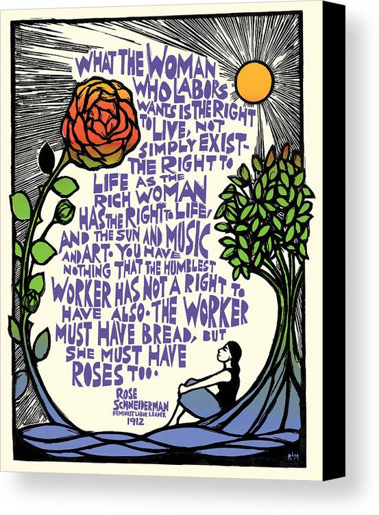 Women Canvas Print featuring the mixed media What She Wants by Ricardo Levins Morales