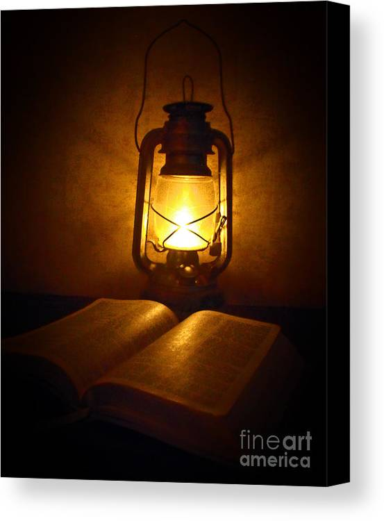 Lantern Canvas Print featuring the photograph By His Light by Katherine Williams