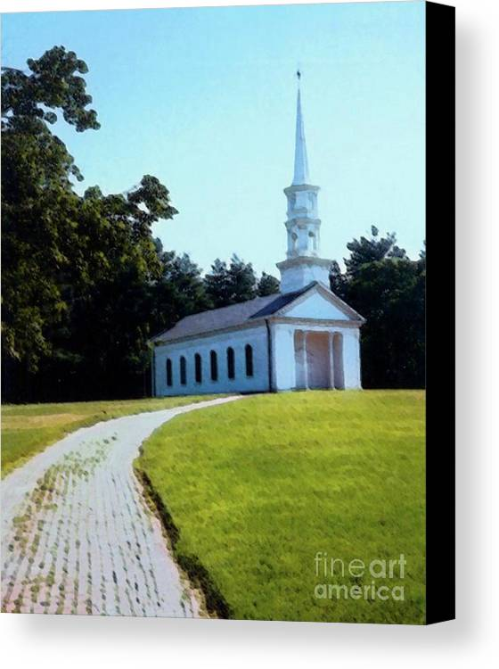 Church Canvas Print featuring the photograph Chapel At The Wayside Inn by Desiree Paquette