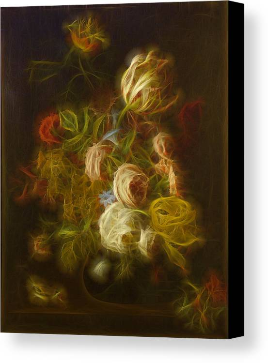 Flowers Digital Art Canvas Print featuring the digital art Classica Modern - M01 by Variance Collections