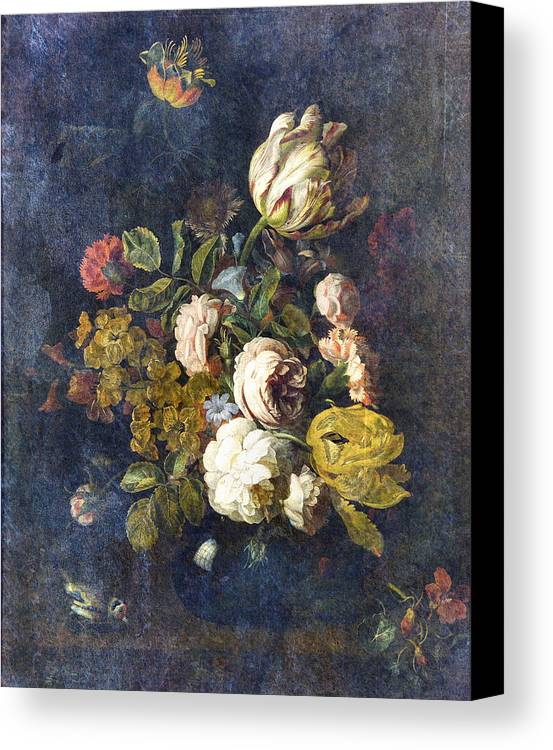 Flowers Digital Art Canvas Print featuring the digital art Classical Bouquet - S0104t by Variance Collections