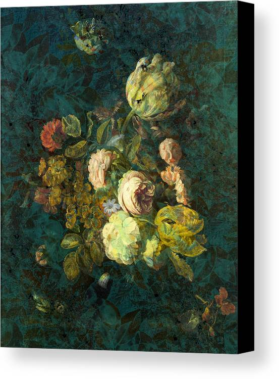 Flowers Digital Art Canvas Print featuring the painting Classical Bouquet - S04bt01 by Variance Collections
