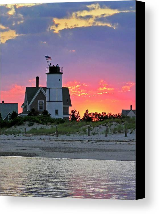 Cocktail Canvas Print featuring the photograph Cocktail Hour At Sandy Neck Lighthouse by Charles Harden