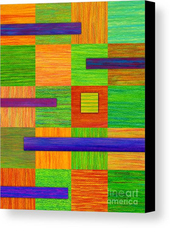 Colored Pencil Canvas Print featuring the painting Coexist by David K Small