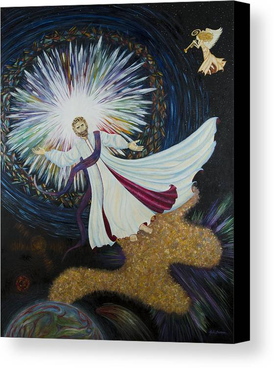 Julia Bowman Canvas Print featuring the painting Come With Me by Julia Bowman