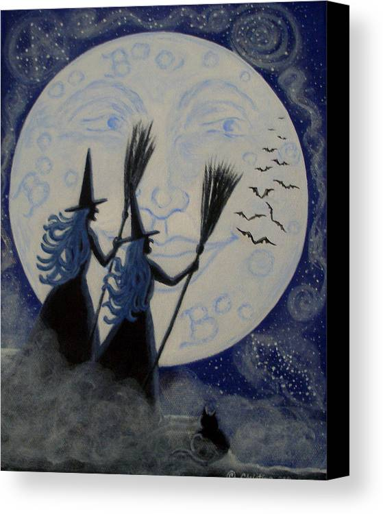 Man Canvas Print featuring the painting Conjuring Constellations by Christine Altmann