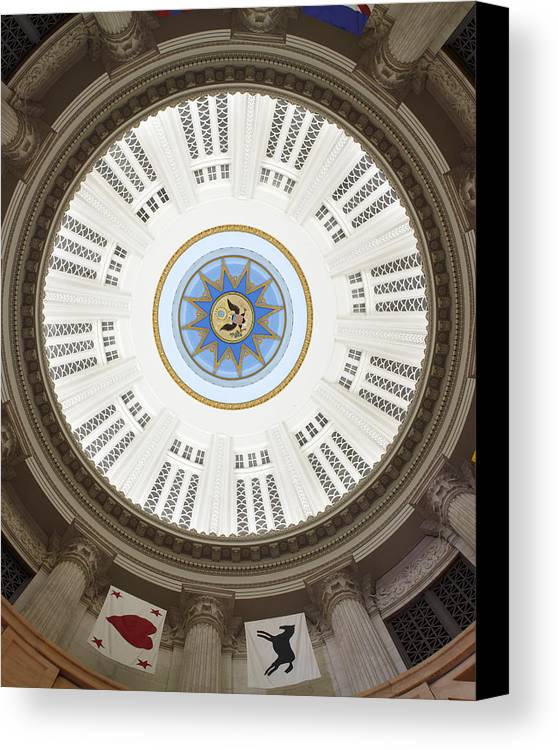 Custom House Tower Canvas Print featuring the photograph Custom House Tower Ceiling Boston by Norman Pogson