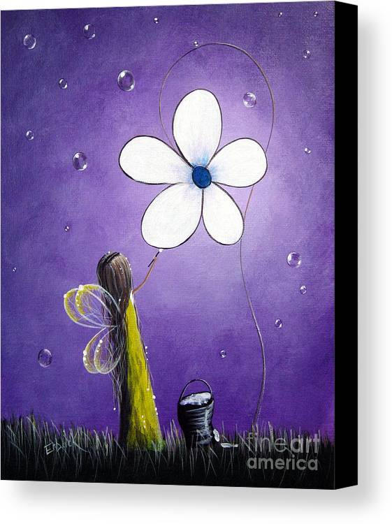 Fairy Canvas Print featuring the painting Daisy Fairy By Shawna Erback by Shawna Erback