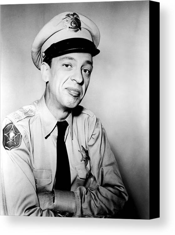 The Andy Griffith Show Canvas Print featuring the photograph Don Knotts In The Andy Griffith Show by Silver Screen