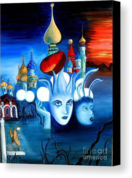 Surrealism Canvas Print featuring the painting Dreams by Pilar Martinez-Byrne