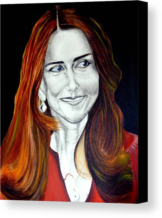 Duchess Canvas Print featuring the painting Duchess Of Cambridge by Prasenjit Dhar