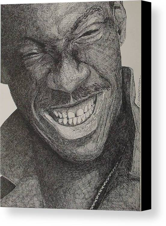 Portraiture Canvas Print featuring the drawing Eddie by Denis Gloudeman