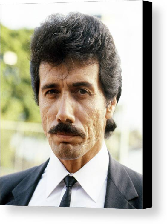Miami Vice Canvas Print featuring the photograph Edward James Olmos In Miami Vice by Silver Screen