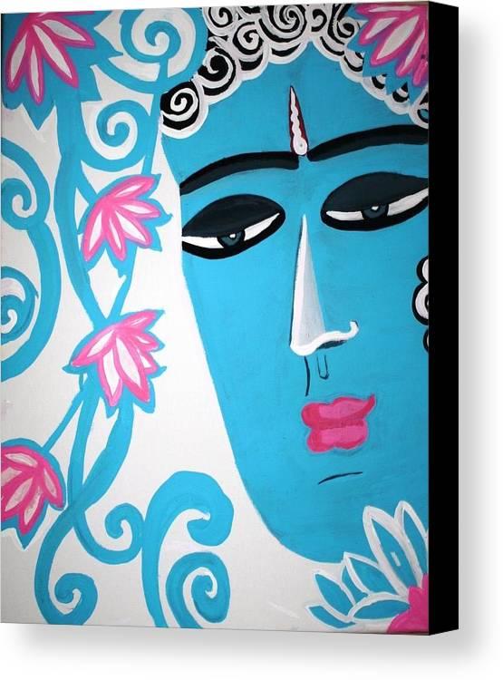 Enchanting Canvas Print featuring the painting Enchanting Buddha by Madhuri Krishna