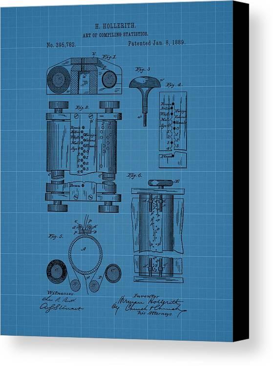First computer blueprint patent canvas print canvas art by dan sproul first computer blueprint patent canvas print featuring the drawing first computer blueprint patent by dan sproul malvernweather Images