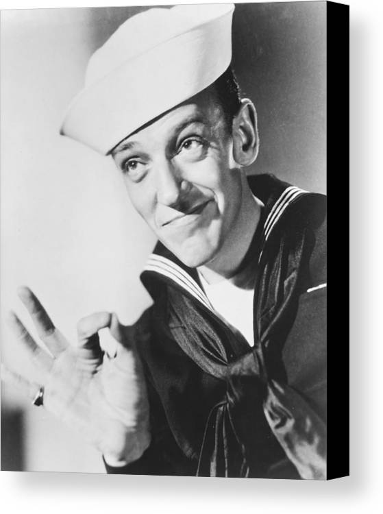 Follow The Fleet Canvas Print featuring the photograph Fred Astaire In Follow The Fleet by Silver Screen
