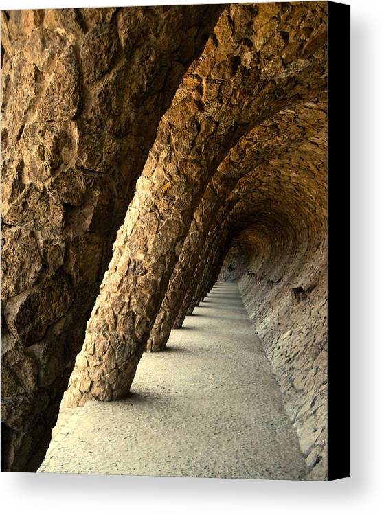 Gaudi Canvas Print featuring the photograph Gaudi Columns by Todd Hartzo