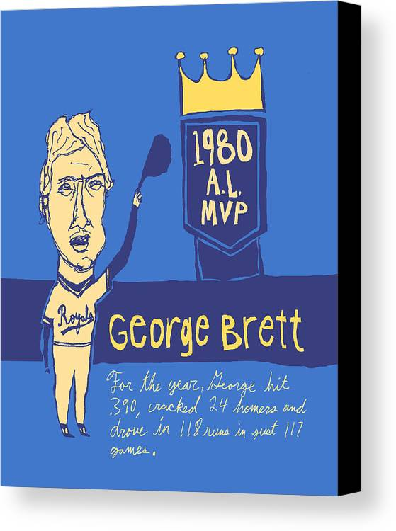 George Brett Canvas Print featuring the painting George Brett Kc Royals by Jay Perkins