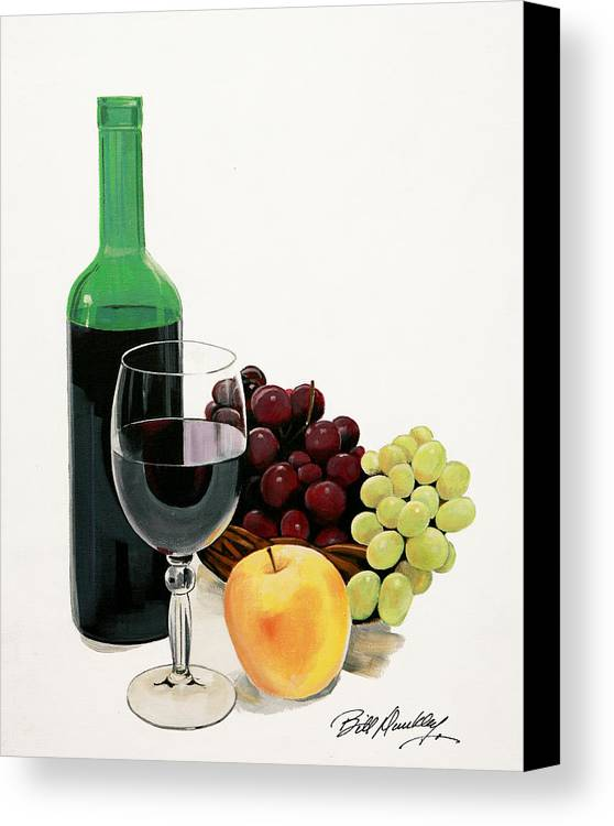 Still Life Painting Canvas Print featuring the painting Glass Half Full by Bill Dunkley