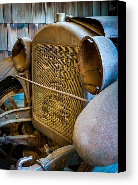 Vehicle Canvas Print featuring the photograph Grill by William Krumpelman