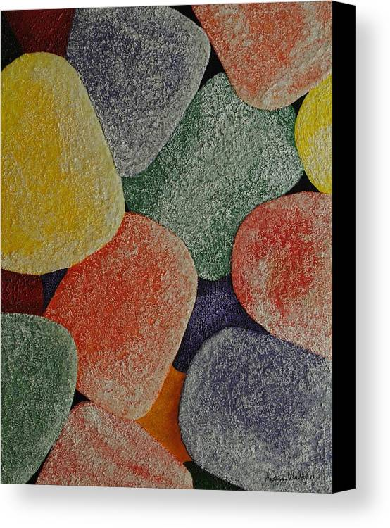Candy Canvas Print featuring the painting Gum Drops by Andrea Nally