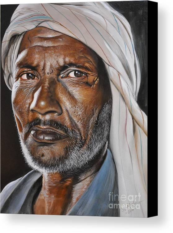 Portrait Canvas Print featuring the painting Hardworker by George Marin