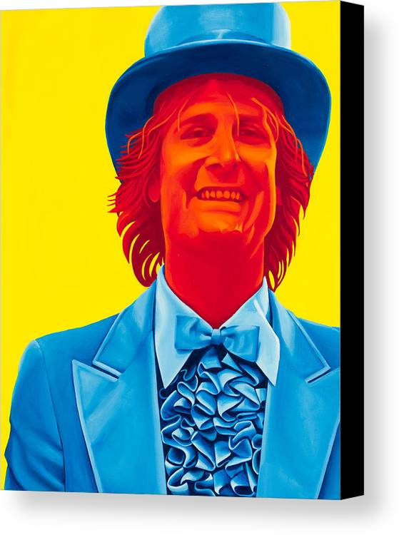 Movies Canvas Print featuring the painting Harry Dunne by Ellen Patton