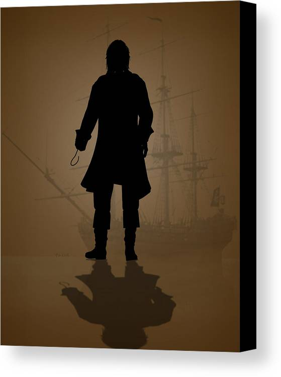 Hook Canvas Print featuring the digital art Hook by Bob Orsillo