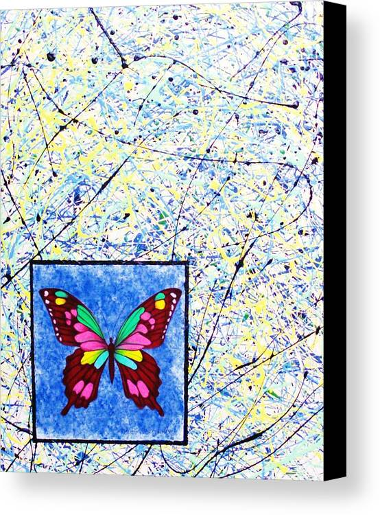 Abstract Canvas Print featuring the painting Imperfect I by Micah Guenther