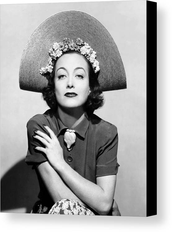 1930s Fashion Canvas Print featuring the photograph Joan Crawford, Ca. 1935 by Everett