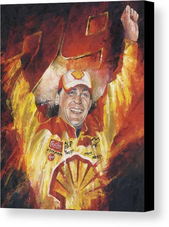 Nascar Canvas Print featuring the painting Kevin Harvick by Christiaan Bekker