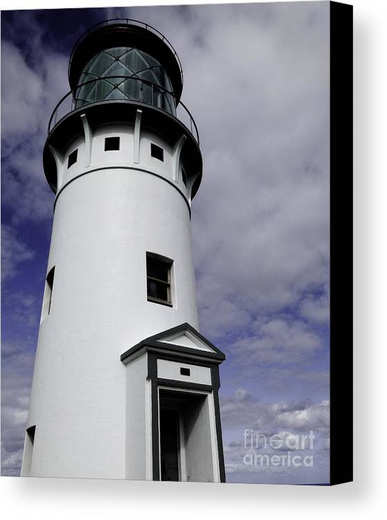 Lighthouse Canvas Print featuring the photograph Kilauea Lighthouse by Kelley Belisle