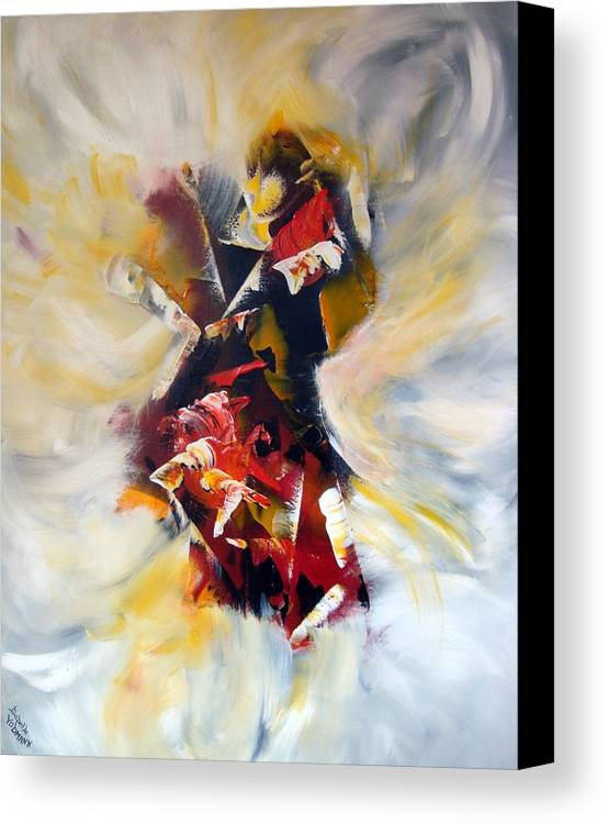 Abstract Canvas Print featuring the painting La Cle Des Songes by Isabelle Vobmann