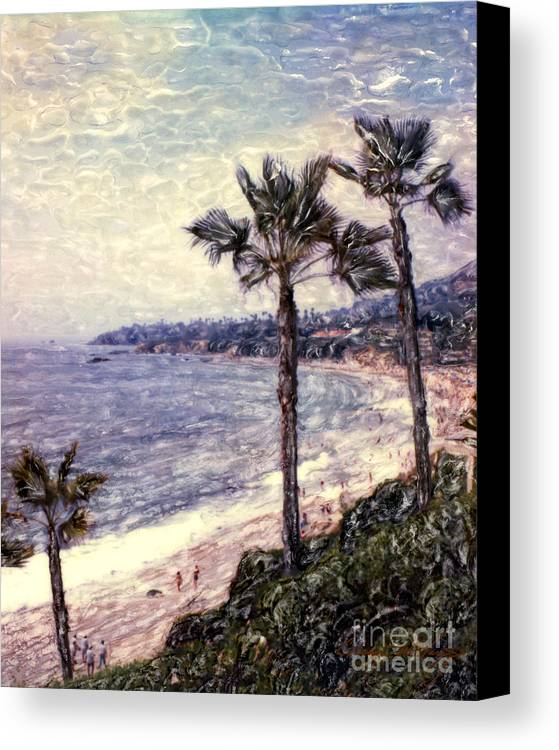 Laguna Beach Canvas Print featuring the photograph Laguna Beach Palm Vista by Glenn McNary