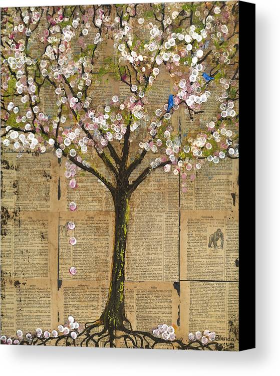 Tree Canvas Print featuring the painting Lexicon Tree Of Life 3 by Blenda Studio