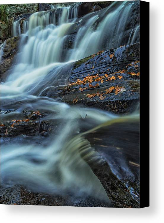 Water Canvas Print featuring the photograph Long Exposure Of Little High Falls by Robert Postma