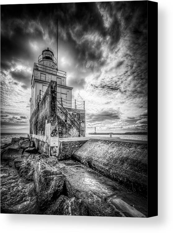B&w Canvas Print featuring the photograph Mariner's Friend by Bill Pohlmann