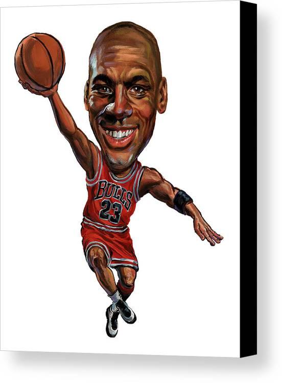 Michael Jordan Canvas Print featuring the painting Michael Jordan by Art