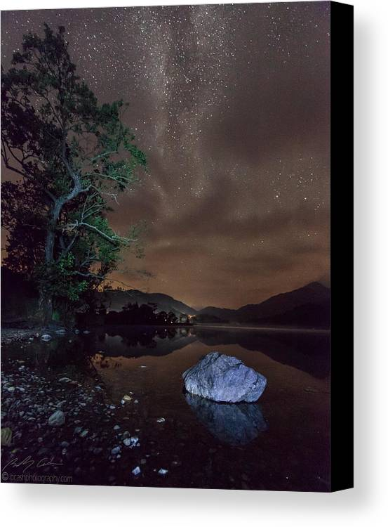 Milky Way Canvas Print featuring the photograph Milky Way At Gwenant by Beverly Cash