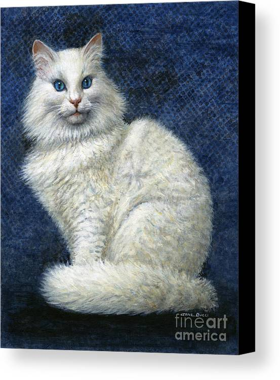 Cat Canvas Print featuring the painting Mrs. Moon by Jane Bucci