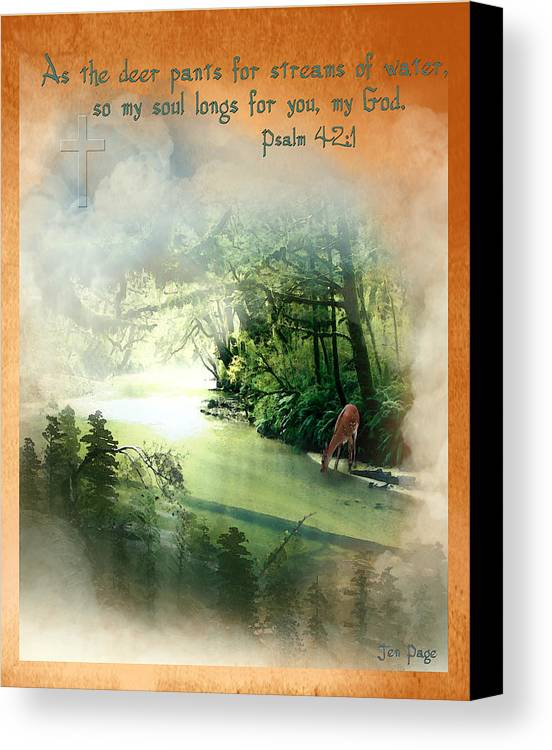 My Soul Longs For You Canvas Print featuring the painting My Soul Longs For You by Jennifer Page