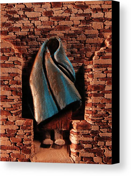 Relief Canvas Print featuring the relief My Spirit Lingers by Carl Bandy