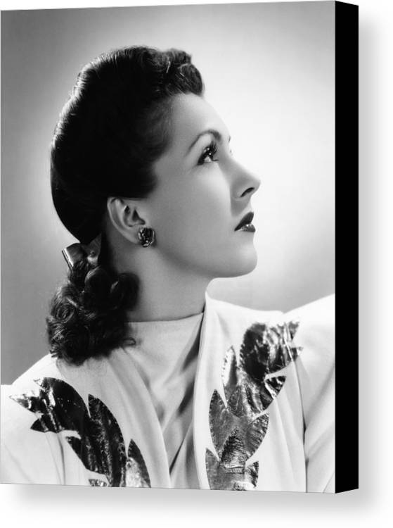 1940s Portraits Canvas Print featuring the photograph Nancy Kelly, Universal Portrait By Ray by Everett