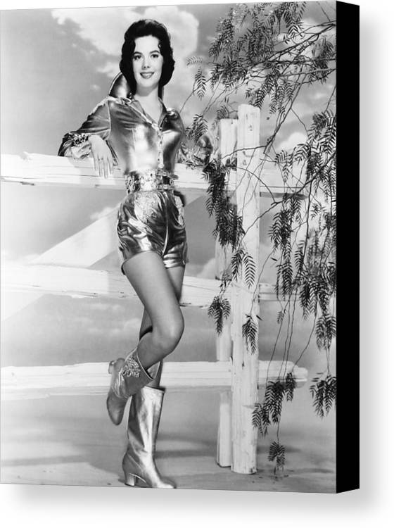 1950s Portraits Canvas Print featuring the photograph Natalie Wood, Warner Bros. Portrait by Everett