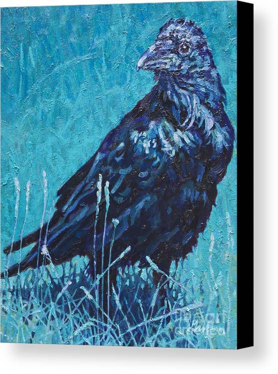 Patricia A Griffin Canvas Print featuring the painting Night Watchman by Patricia A Griffin