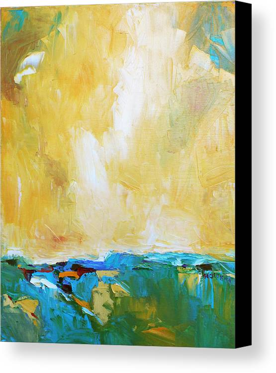Landscape Canvas Print featuring the painting Openness by Becky Kim